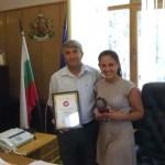 Медалистка от олимпиадата в Азия благодари на община Черноочене за подкрепата